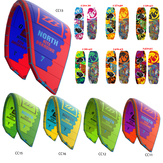 2016 North Kiteboarding Mono & 2016 RRD Placebo Set