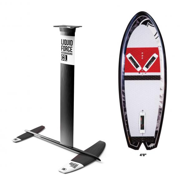 2019 Liquid Force Rocket Board & Thruster Foil Set (Foil & Board)