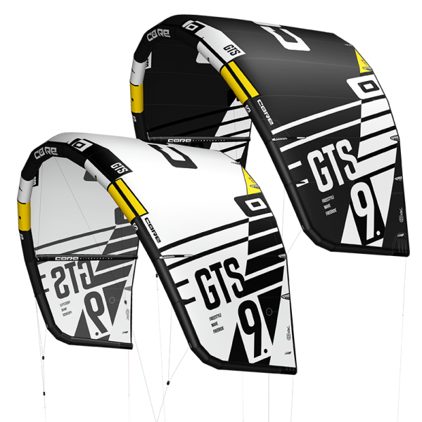 CORE Kitesurfing  FREE Test-Kite white/black Kiteboard Kite Kites