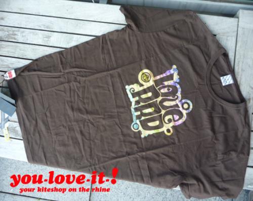 RRD T-Shirt Love Braun