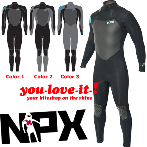 NPX Assassin Backzip 3 mm Wetsuit