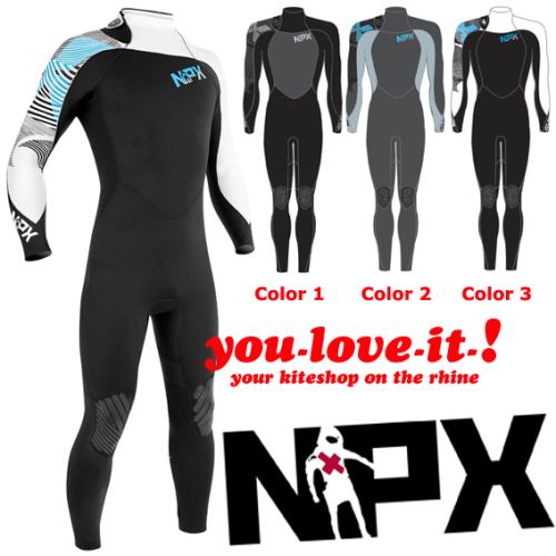 NPX Assassin Backzip 3 mm Wetsuit